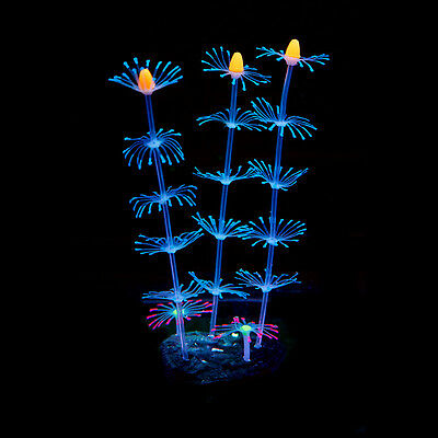 Silicone Artificial Fish Tank Aquarium Coral Plant Flower Ornament Water Decors 5