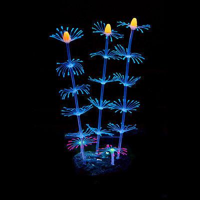 Silicone Artificial Fish Tank Aquarium Coral Plant Flower Ornament Water Decors 5