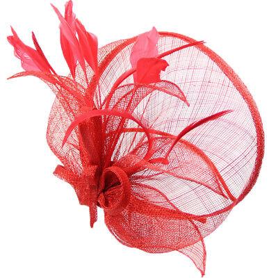 Ladies Flower Hair Clip Feathers Top Hat Fascinator Royal Ascot Race Wedding UK 2