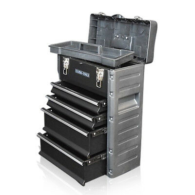 320 US PRO Tools Black Mobile Roller Chest Trolley Cart Storage cabinet Tool Box 3