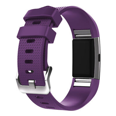 Fitbit Charge 2 Armband Uhrenarmbänder Verstellbares Ersatz Sport Fitnesstracker 3