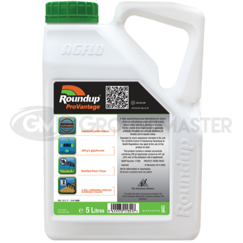 1 x 5L Roundup Pro Vantage 480 Strong Glyphosate Weedkiller + Free Cup & Gloves 2