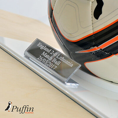 Perspex Football Display Case - WHITE BASE (WITH FREE PERSONALISED PLAQUE) 3