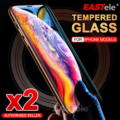 2x EASTele Apple iPhone 8 Plus 7 11 Pro XS Max Tempered Glass Screen Protector 2