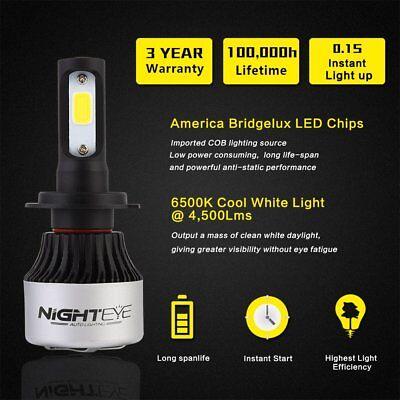 Nighteye Car 72W 9000LM H7 LED Conversion Headlight KIT 6500K Bulbs Xenon White 2