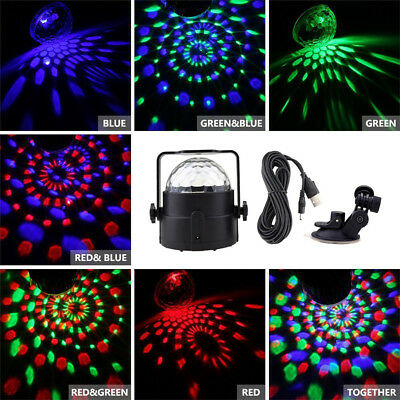 AU RGB LED remote Disco Home Party Crystal Magic Ball Strobe Effect Light Lamp 9