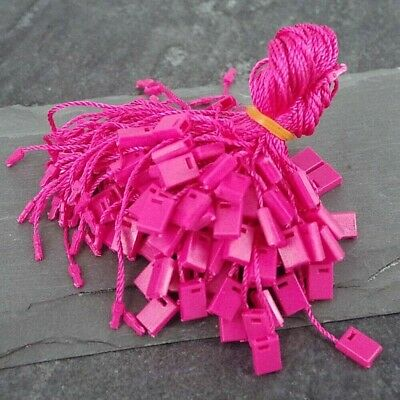 """Hang Tag, Tags Nylon String Snap Lock Pin Loop Fastener Hook Tie,100 pcs 7"""" Long 3"""