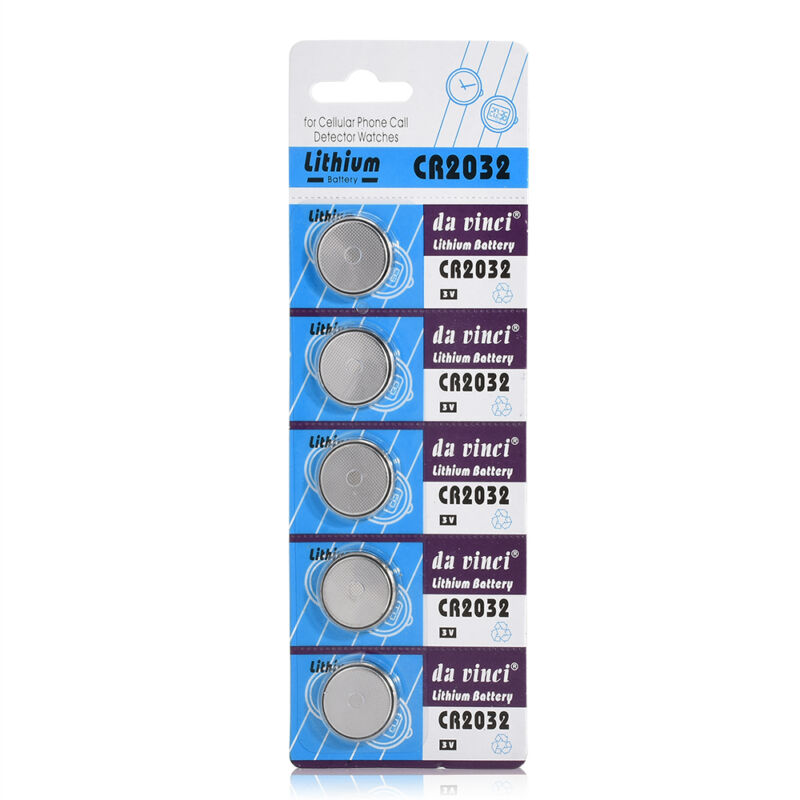 5Pcs set 3V Li-ion Cell Battery CR2032 3 Volt Coin Button Cell Battery for Watch 2