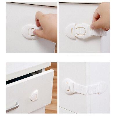 10 PCS Drawer CabInet Safety Locks Children Infant Cupboard Lock Doors Stopper 5