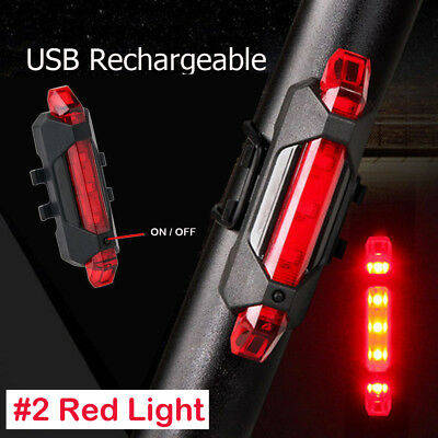 100 Lumens USB Rechargeable COB Bike Front Rear Lights LED Bicycle Riding Lamp 11