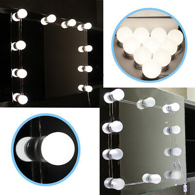 Hollywood Mirror Vanity LED Light Kit Beauty Makeup with 10 bulbs, dimmer,AUplug 2