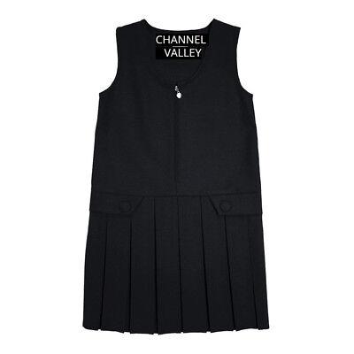 Girls School Uniform Pinafore  Box Pleated Elasticated waist school kids Skirt 3