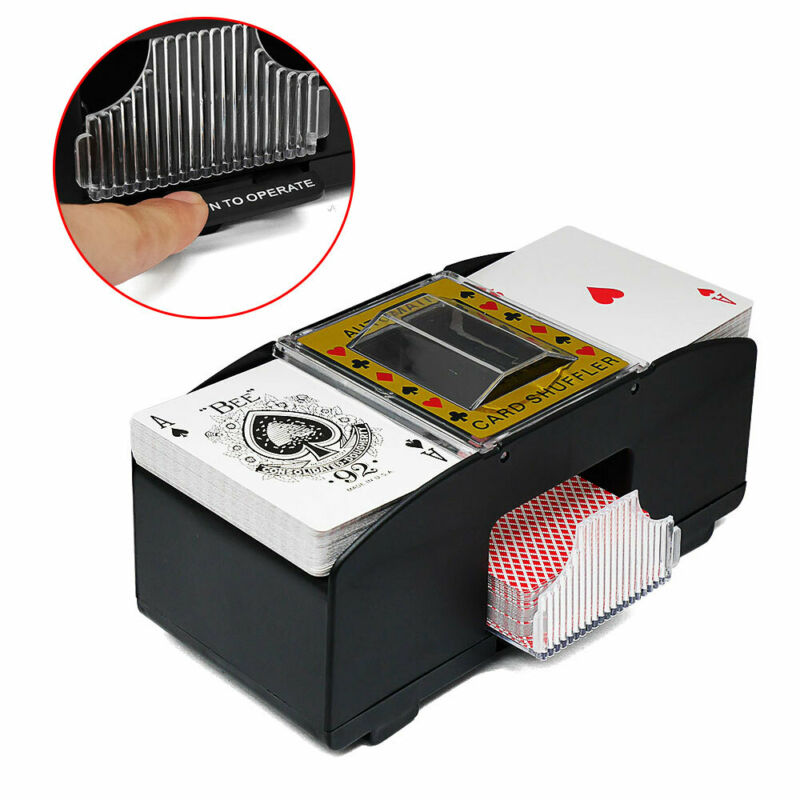 Automatic Card Shuffler Deck Casino Playing Cards Sorter Poker Games Machine 2