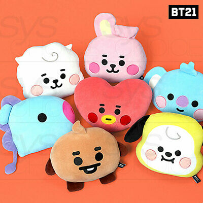 BTS BT21 Official Authentic Goods Baby Flat Face Cushion + Tracking Number 2