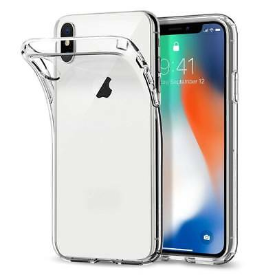100% Verre trempé Film Protection écran+ Coque crystal iPhone X XS Max XR 8 7 6 5