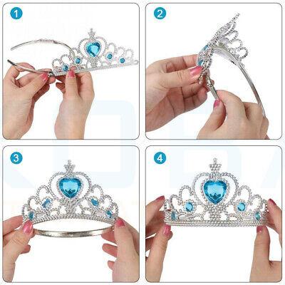Vicloon Ice Princess Elsa Accessories Set  Tiara Crown and Magic Wand Girls Gift 5