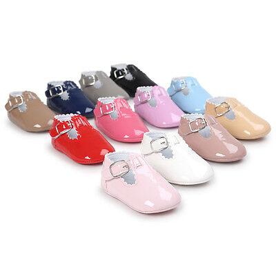 Bebé PU piel Zapatos primeros pasos de gateo Pantuflas Zapatillas cuero MODE 2