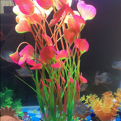 Artificial Water Plants for Fish Tank Aquarium Landscape Plastic Decor Ornament 5