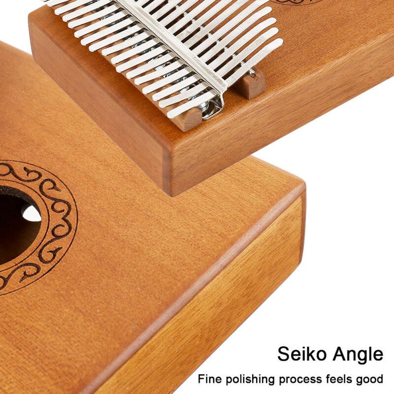 17-key Kalimba Portable Thumb Piano Mbira Mahogany Wood with Carry Bag au 6