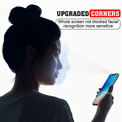 2x Scratch Resist Tempered Glass Screen Protector Film Guard Apple iPhone X XS 8