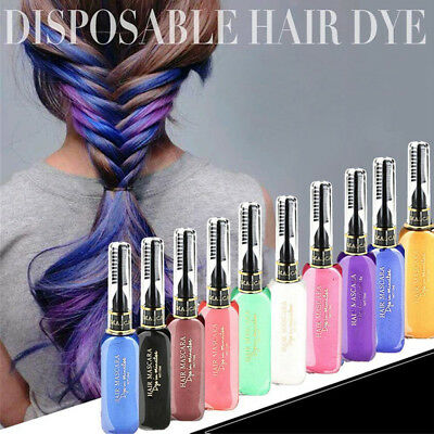 Crayons For Hair Color Chalk Temporary With Comb Non-toxic Salon DIY Hair Stylin