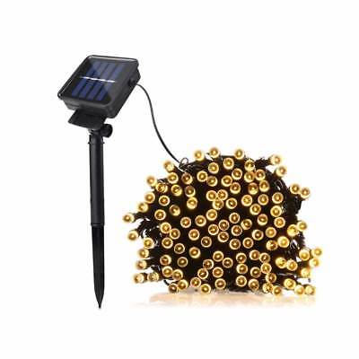 50/100/200 LED Solar Power Fairy Garden Lights String Outdoor Party Wedding Xmas 7