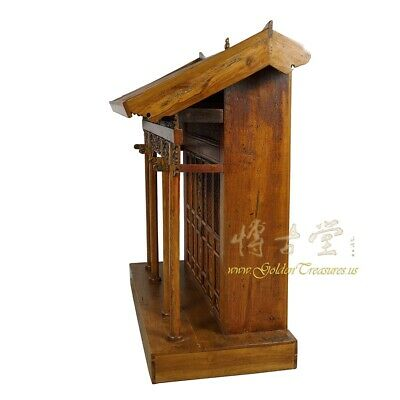 19 Century Antique Chinese Wooden Carved Altar/Buddha House/Shrine 11