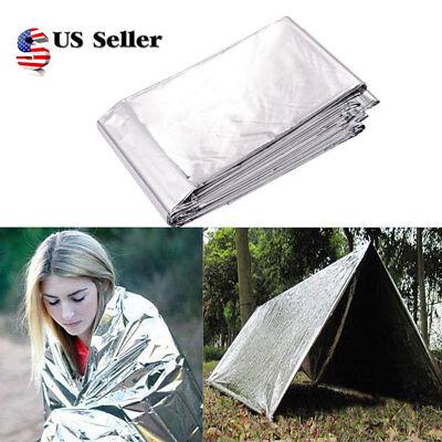 Outdoor Survival Emergency Mylar Waterproof Sleeping Bag Foil Thermal Blanket 2