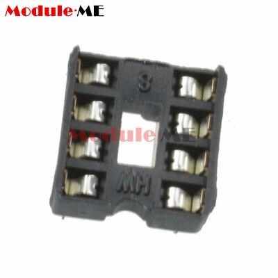50/100PCS 8pin DIP IC Socket Adaptor Solder Type Socket Pitch Dual Wipe UK 2