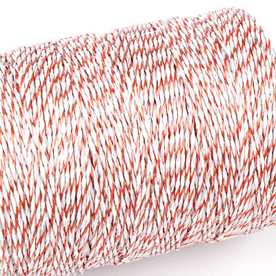 1000m Roll Polywire Electric Fence Stainless Steel Poly Wire Energiser Insulator 3