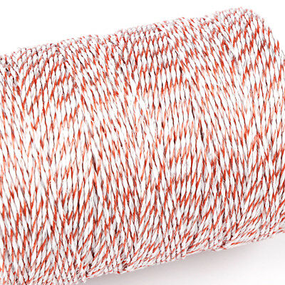 500m Roll Polywire Electric Fence Stainless Steel Poly Wire Energiser Insulator 3