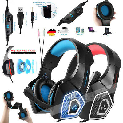 3.5mm Gaming Headset Mic Headphones Stereo Surround for PS3 PS4 Xbox ONE 360 PC 2