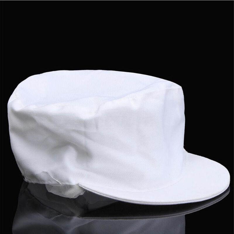 Elastic Catering Hat Chef Bakers Bouffant Cap Food Hygiene Snood Cap Dust-proof 3