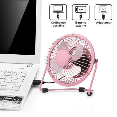 USB Ventilateur Mini Bureau Table Portable Silencieux Ordinateur PC Inclinable 10