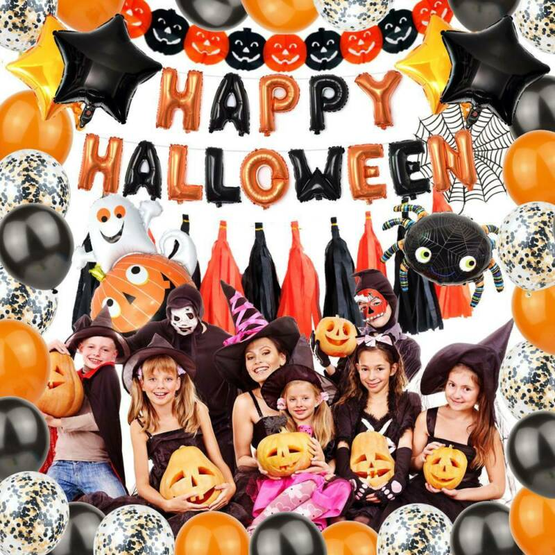 Happy Halloween Party Deko Set Kinder Dekoration Tischdeko Garden Banner Deko Eur 13 20 Picclick De