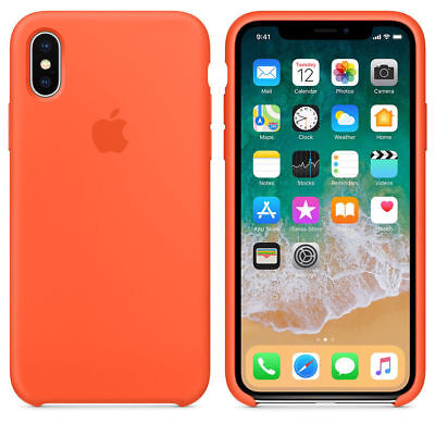 Original Silicone Leather Case For iPhone XR XS Max 6 7 8 Plus Genuine OEM Cover 6