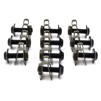 10PCS 6mm M6 Fairing Bolts Speed Fastener Clip Screw Nuts Motorcycle Universal 9