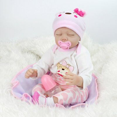 "22""Reborn Baby Dolls Lifelike Newborn Silicone Vinyl Handmade Sleeping Xmas Gift 4"