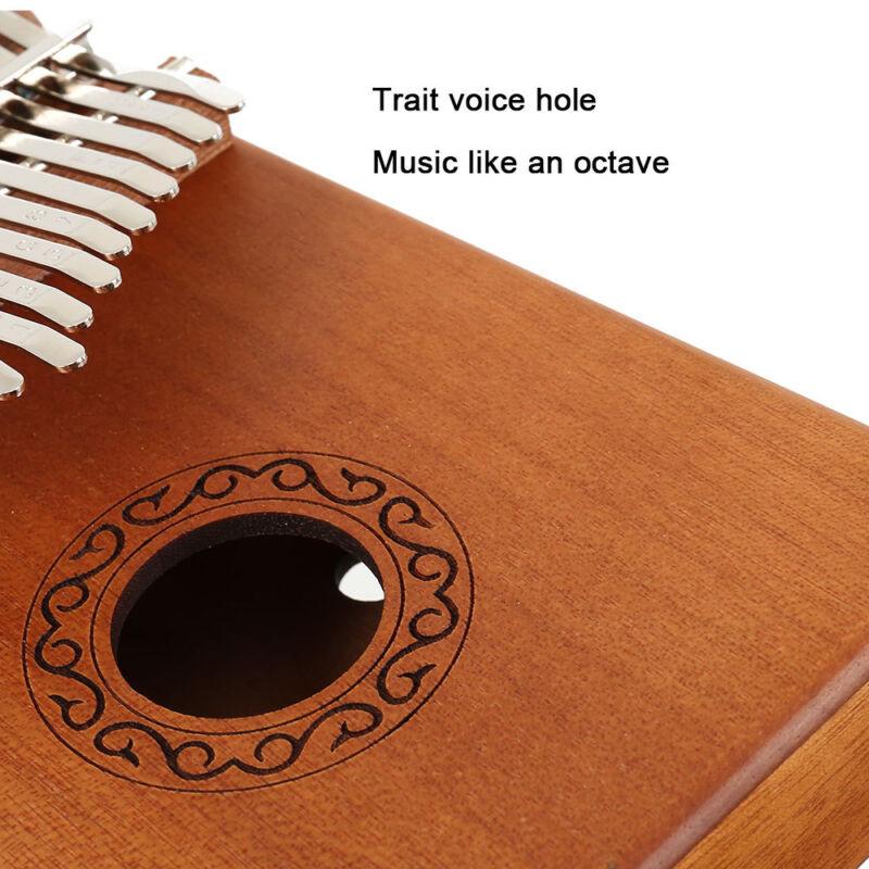 17-key Kalimba Portable Thumb Piano Mbira Mahogany Wood with Carry Bag au 4