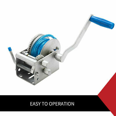 Hand Winch 2000KG/4410LBS 3 Speed Dyneema Rope Manual Car Boat Trailer 4WD 5