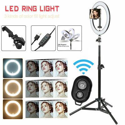 "6"" LED Ring Light Dimmable For Studio Makeup Camera Video Lighting + Tripod UK 3"