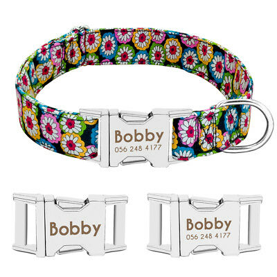 Personalized Dog Collar Heavy Duty Buckle Engraved ID Name Custom Labrador S M L 5