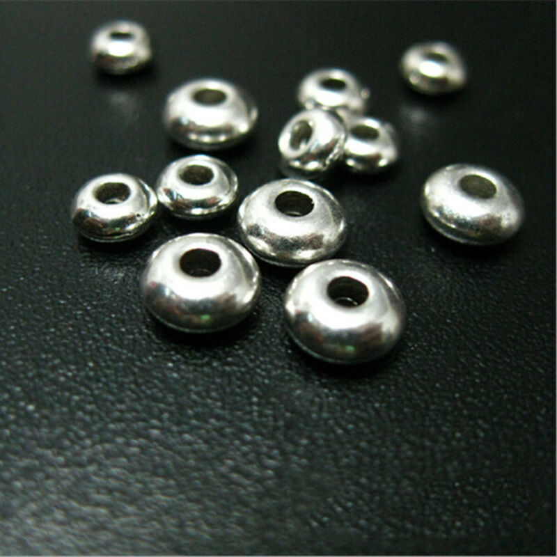 100PC Silver Stainless Steel Round Spacer Beads DIY Jewelry Making Wholesale Lot 5