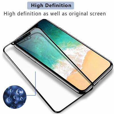 For iPhone X XR XS Max - FULL COVER 9D Tempered Glass Screen Protector [2-Pack] 2