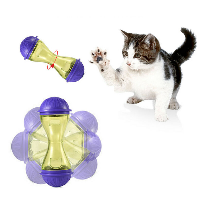 Pet Feeder Cat Food Toy Treats Dispensing Toys Mental Stimulation for Cats New 3