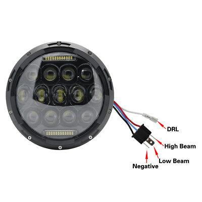 "Pair 7"" INCH 75W LED Headlight Hi/Lo Beam DRL Fit Jeep Wrangler CJ JK LJ Camaro 3"