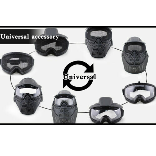 Full Face Protective Safety with Goggles Mask Tactical CS Game Paintball Airsoft 9