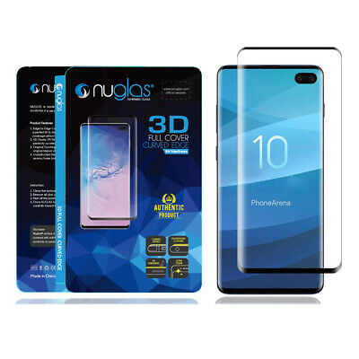 NUGLAS 3D Tempered Glass Screen Protector For Samsung Galaxy S10 S9 S8 Plus S10e 6