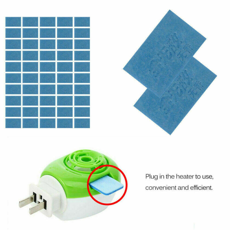 50x Mosquito Repellent Insect Bite Mat Tablets Refills Replace Pest Repeller NEW 2