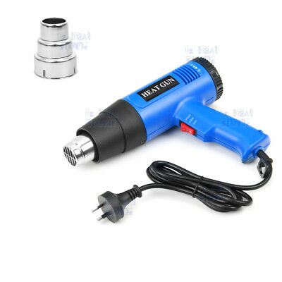 220V 1800W Electric Heat Gun 60-600 Degree Temperature Adjustable Hot Air OZ 5